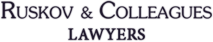 Ruskow Law firm logo